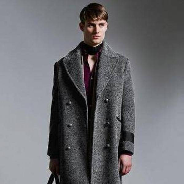 двубортное пальто мужское